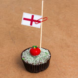 Σημαία της Αγγλίας σε ένα cupcake Στοκ φωτογραφία με δικαίωμα ελεύθερης χρήσης