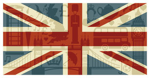 σημαία της Αγγλίας διανυσματική απεικόνιση