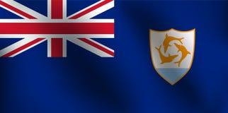 Σημαία της Αγκουίλα - διανυσματική απεικόνιση Στοκ Εικόνα