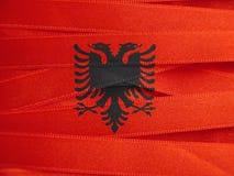 Σημαία της Αλβανίας ή αλβανικό έμβλημα Στοκ εικόνα με δικαίωμα ελεύθερης χρήσης