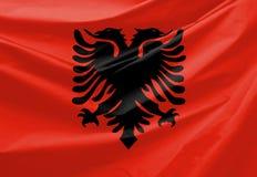 σημαία της Αλβανίας Στοκ εικόνα με δικαίωμα ελεύθερης χρήσης