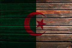 Σημαία της Αλγερίας στο ξύλο Στοκ Εικόνες