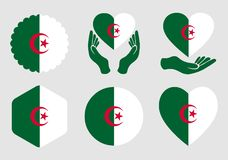 Σημαία της Αλγερίας στο υπόβαθρο που απομονώνεται απεικόνιση αποθεμάτων