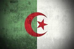 σημαία της Αλγερίας grunge απεικόνιση αποθεμάτων