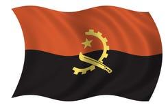 σημαία της Ανγκόλα Στοκ φωτογραφίες με δικαίωμα ελεύθερης χρήσης