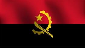 Σημαία της Ανγκόλα - διανυσματική απεικόνιση Στοκ εικόνες με δικαίωμα ελεύθερης χρήσης