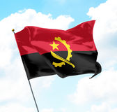 σημαία της Ανγκόλα Στοκ Εικόνες
