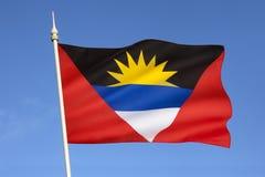 Σημαία της Αντίγκουα και της Μπαρμπούντα - οι Καραϊβικές Θάλασσες Στοκ Φωτογραφίες