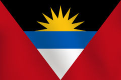 Σημαία της Αντίγουα και της Μπαρμπούντα - διανυσματική απεικόνιση Στοκ φωτογραφίες με δικαίωμα ελεύθερης χρήσης
