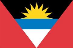 σημαία της Αντίγουα Μπαρμπούντα Στοκ εικόνα με δικαίωμα ελεύθερης χρήσης
