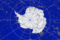Σημαία της Ανταρκτικής που χρωματίζεται στο ραγισμένο βρώμικο τοίχο Εθνικό σχέδιο στην εκλεκτής ποιότητας επιφάνεια ύφους στοκ φωτογραφίες