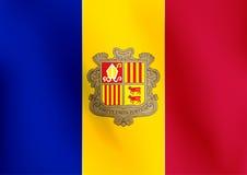 Σημαία της Ανδόρας - διανυσματική απεικόνιση Στοκ Εικόνες