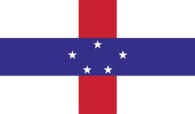 Σημαία της απεικόνισης εικονιδίων Κάτω Χώρα-Αντίλλες ελεύθερη απεικόνιση δικαιώματος