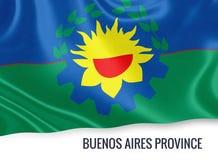 Σημαία της αργεντινής επαρχίας του κρατικού Μπουένος Άιρες Στοκ Εικόνες