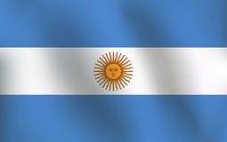 Σημαία της Αργεντινής - διανυσματική απεικόνιση Στοκ εικόνες με δικαίωμα ελεύθερης χρήσης