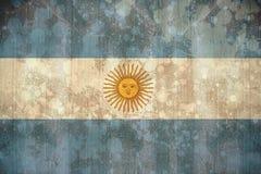 Σημαία της Αργεντινής στην επίδραση grunge διανυσματική απεικόνιση