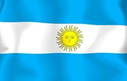 σημαία της Αργεντινής Στοκ εικόνες με δικαίωμα ελεύθερης χρήσης