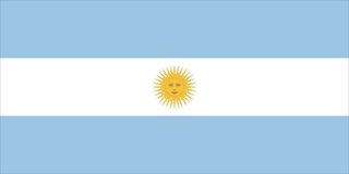 σημαία της Αργεντινής Στοκ Εικόνες