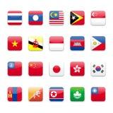 σημαία της Ασίας Στοκ φωτογραφία με δικαίωμα ελεύθερης χρήσης