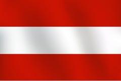 Σημαία της Αυστρίας - διανυσματική απεικόνιση Στοκ Εικόνες