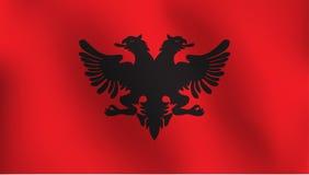 Σημαία της Αλβανίας - διανυσματική απεικόνιση Στοκ φωτογραφίες με δικαίωμα ελεύθερης χρήσης