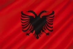 Σημαία της Αλβανίας - της Ανατολικής Ευρώπης Στοκ εικόνα με δικαίωμα ελεύθερης χρήσης