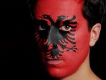 Σημαία της Αλβανίας Στοκ φωτογραφία με δικαίωμα ελεύθερης χρήσης