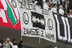Σημαία της Βαρσοβίας Legia Στοκ Φωτογραφίες