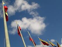 Σημαία της Βενεζουέλας στο μπλε ουρανό, Καράκας, Βενεζουέλα Στοκ Φωτογραφίες