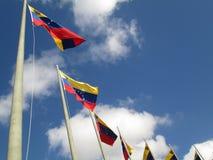 Σημαία της Βενεζουέλας στο μπλε ουρανό, Καράκας, Βενεζουέλα Στοκ φωτογραφίες με δικαίωμα ελεύθερης χρήσης