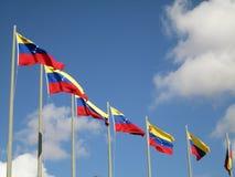 Σημαία της Βενεζουέλας στο μπλε ουρανό, Καράκας, Βενεζουέλα Στοκ φωτογραφία με δικαίωμα ελεύθερης χρήσης