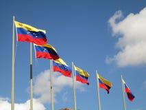 Σημαία της Βενεζουέλας στο μπλε ουρανό, Καράκας, Βενεζουέλα Στοκ Εικόνα