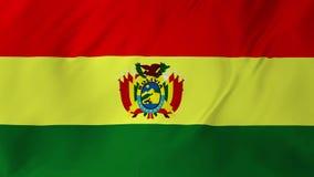 Σημαία της Βολιβίας με τη σύσταση 2 υφάσματος σε 1 απόθεμα βίντεο