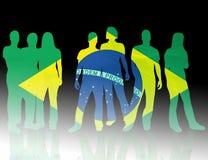 σημαία της Βραζιλίας εθνική Στοκ Εικόνα
