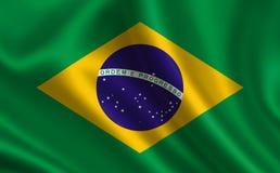σημαία της Βραζιλίας Μέρος της σειράς Στοκ φωτογραφία με δικαίωμα ελεύθερης χρήσης