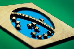 Σημαία της Βραζιλίας, περικοπή βάσεων στοκ εικόνα με δικαίωμα ελεύθερης χρήσης