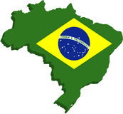 σημαία της Βραζιλίας τυπ&omicr Στοκ Εικόνες