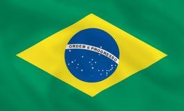 σημαία της Βραζιλίας Στοκ Εικόνα
