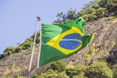 Σημαία της Βραζιλίας ` s υπαίθρια στοκ φωτογραφία με δικαίωμα ελεύθερης χρήσης
