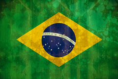 Σημαία της Βραζιλίας στην επίδραση grunge Στοκ φωτογραφία με δικαίωμα ελεύθερης χρήσης