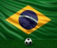σημαία της Βραζιλίας Στοκ Εικόνες