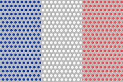 Σημαία της Γαλλίας στο μέταλλο Στοκ Φωτογραφίες