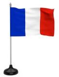 Σημαία της Γαλλίας με το κοντάρι σημαίας Στοκ Εικόνα