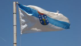 Σημαία της Γαλικία, Ισπανία απόθεμα βίντεο