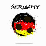 Σημαία της Γερμανίας ως αφηρημένη σφαίρα ποδοσφαίρου Στοκ εικόνα με δικαίωμα ελεύθερης χρήσης