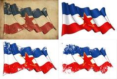 Σημαία της Γιουγκοσλαβίας Στοκ Εικόνες