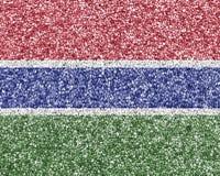 Σημαία της Γκάμπιας στο σπόρο παπαρουνών Στοκ Φωτογραφίες