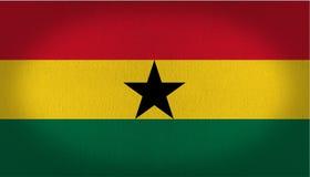 Σημαία της Γκάνας Στοκ Εικόνα