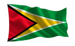 Σημαία της Γουιάνας Μια σειρά σημαιών ` του κόσμου ` Η χώρα - σημαία της Γουιάνας Στοκ Εικόνες
