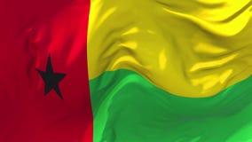 215 Σημαία της Γουινέα-Μπισσάου που κυματίζει στο συνεχές άνευ ραφής υπόβαθρο βρόχων αέρα ελεύθερη απεικόνιση δικαιώματος